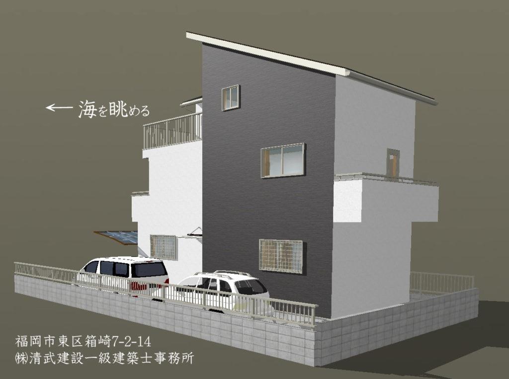 福岡市海を眺める家・売地